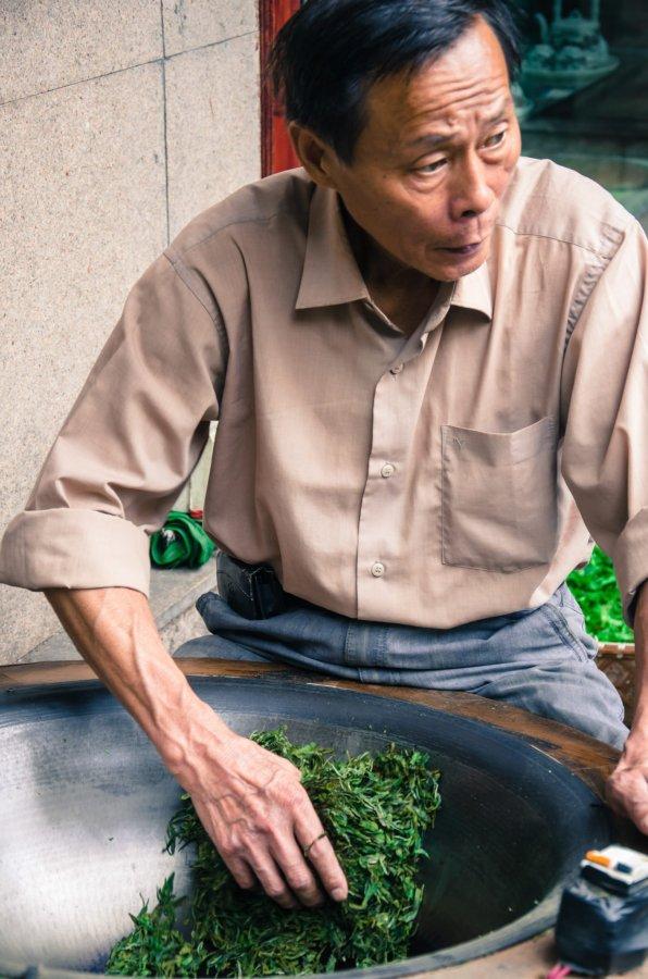 Man with Tea Hangzhou William Woodward