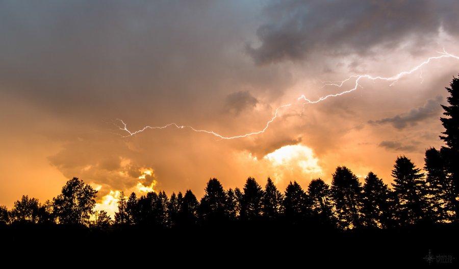 Midwest Lightning Sunset William Woodward