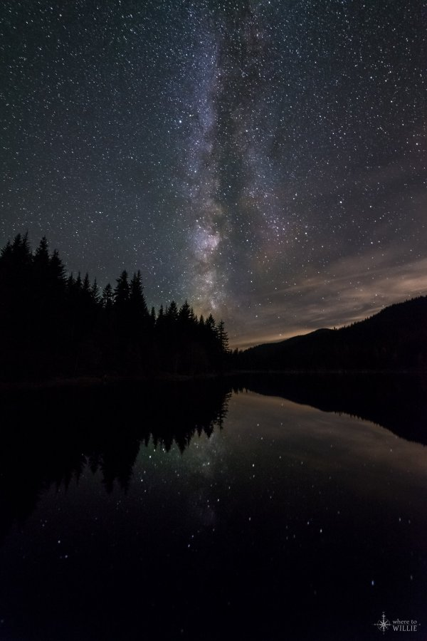 trillium lake milky way reflections william woodward