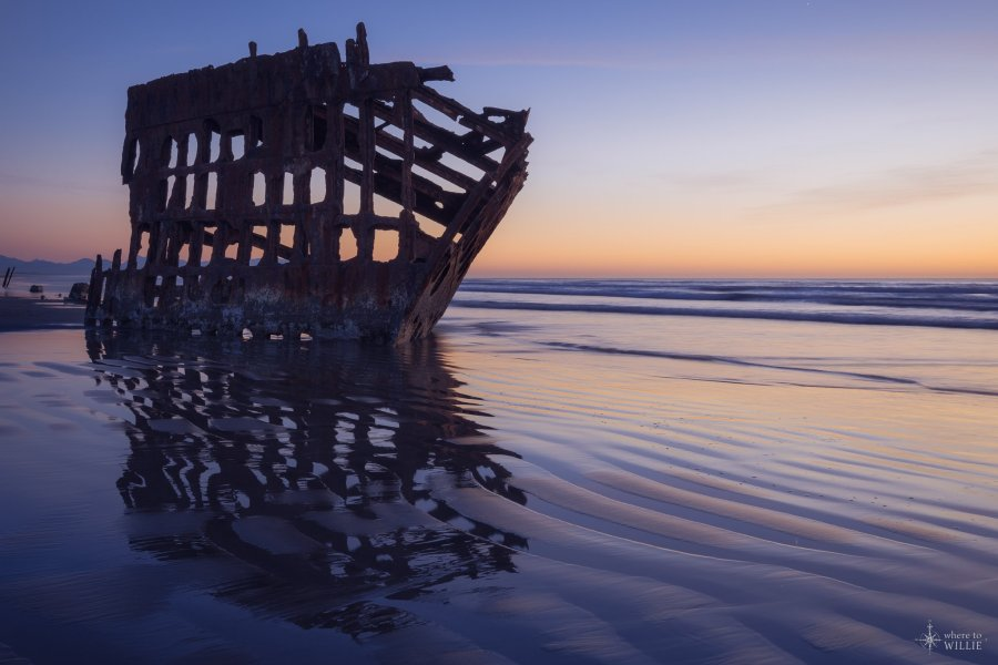 shipreck peter iredale oregon coast william woodward