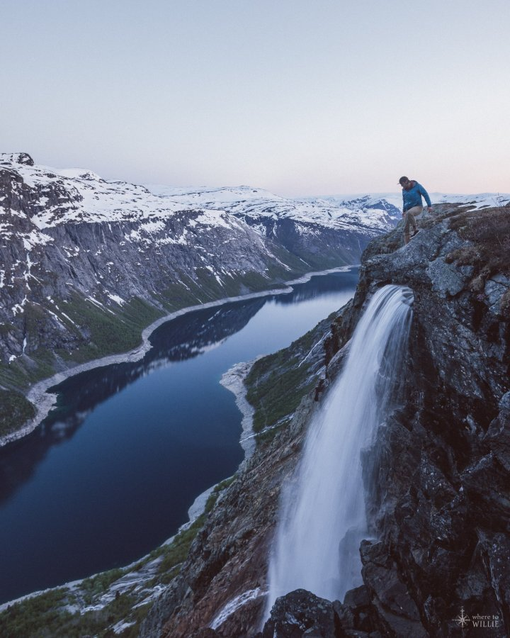 Waterfall near Trolltunga