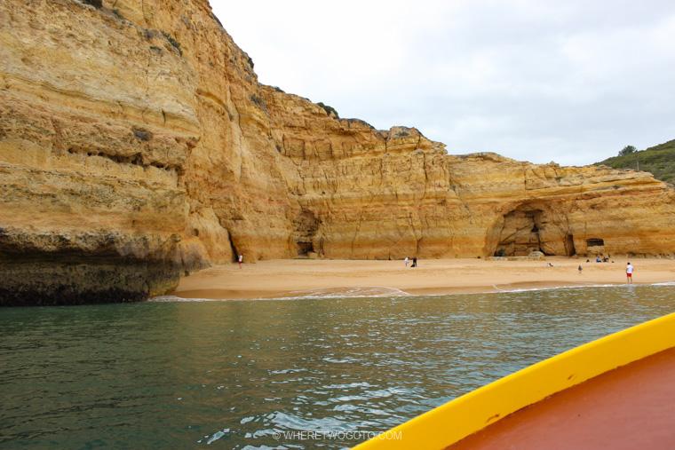 Boat tour Benagil Marinha caves Algarve Where Two Go To
