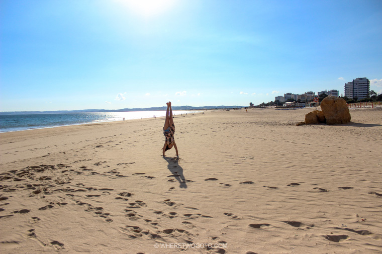 Praia dos Tres Irmaos Algarve Portugal Where Two Go To