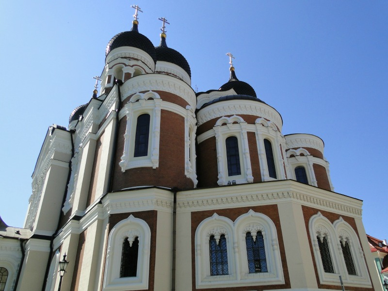 Nevsky's Cathedral in Tallinn is stunning with its onion domes.