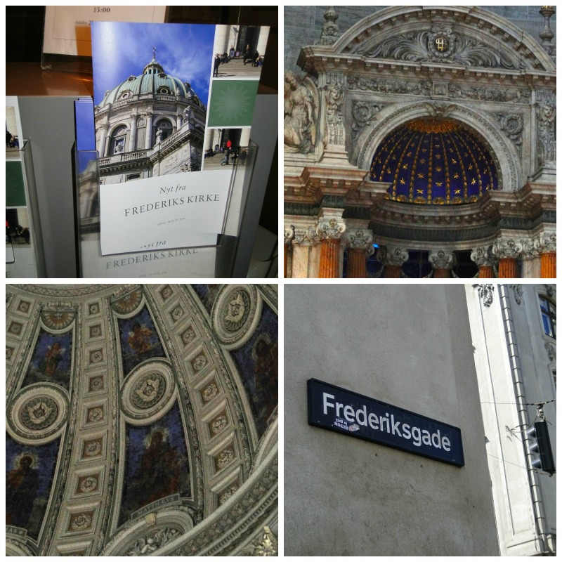 Collage of photos from Frederik's Church.