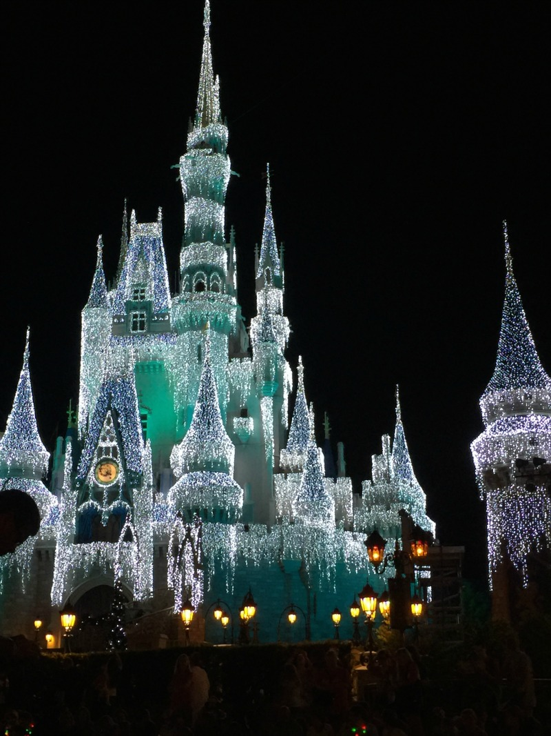 cinderella's castle frozen over
