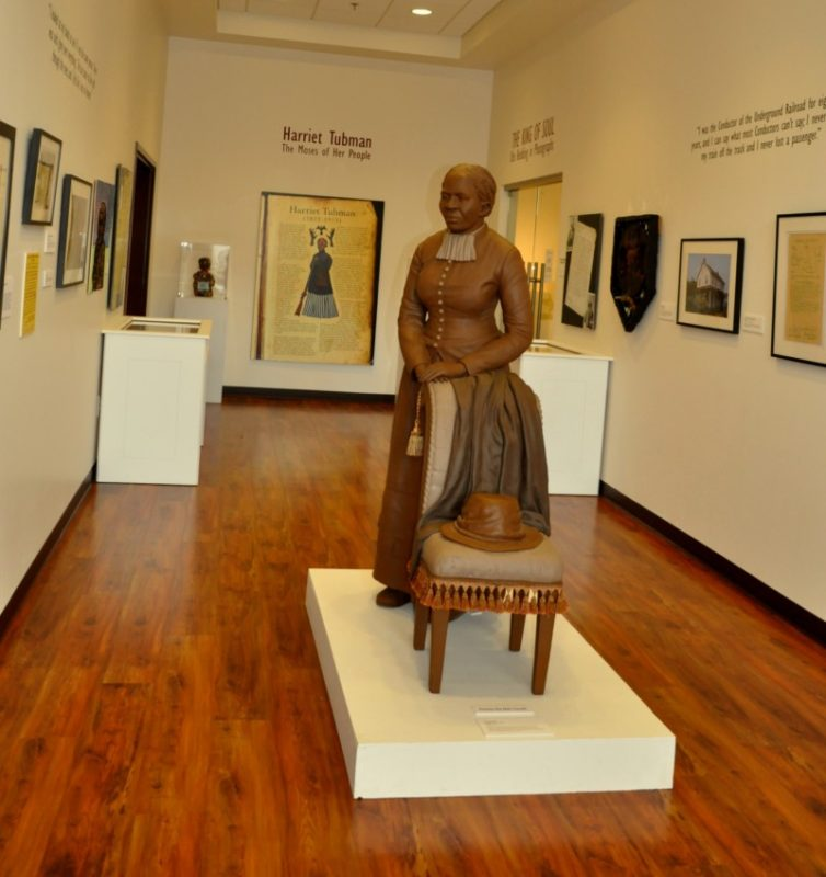 The only thing that can be photographed in the Harriett Tubman Museum.