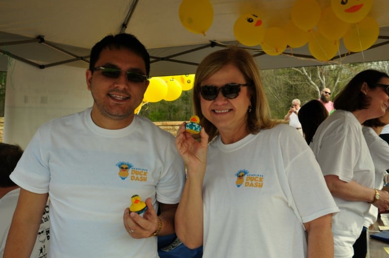 The duck dash is a fun way to win cash and prizes at the Cherry Blossom Festival in Macon.