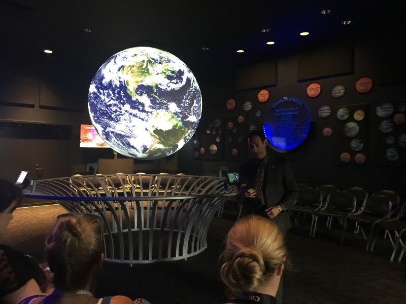 Science on a Sphere is an amazing 3D globe that offers precise geography and history on its life-size model.