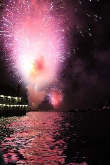 Fireworks in San Francisco Bay 4th of July