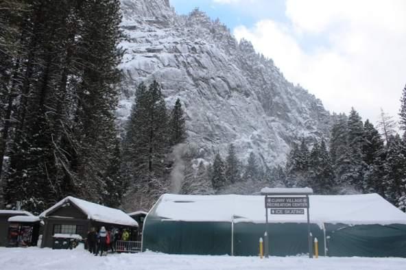 Yosemite Ice Skating Rink in Curry Village