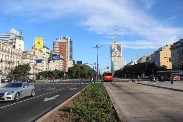 Ave de 9 Julio Evita building in Buenos Aires