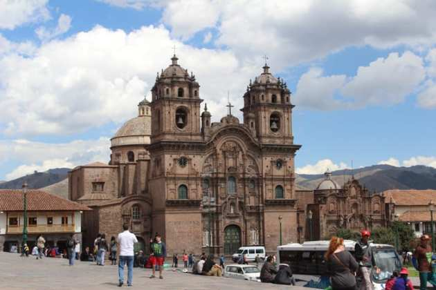 Church in Plaza de Armas, Cusco