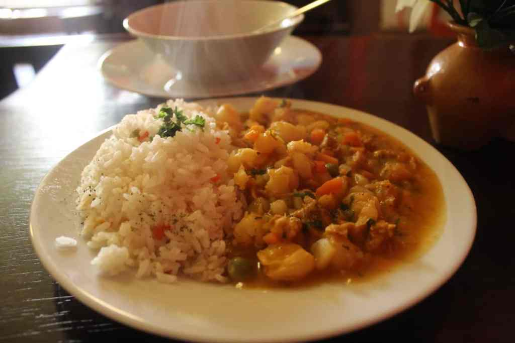 Rice beans and veggies in Cusco