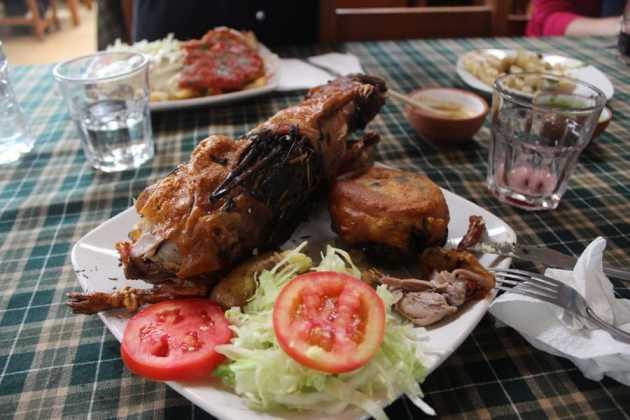guinea pig on a plate