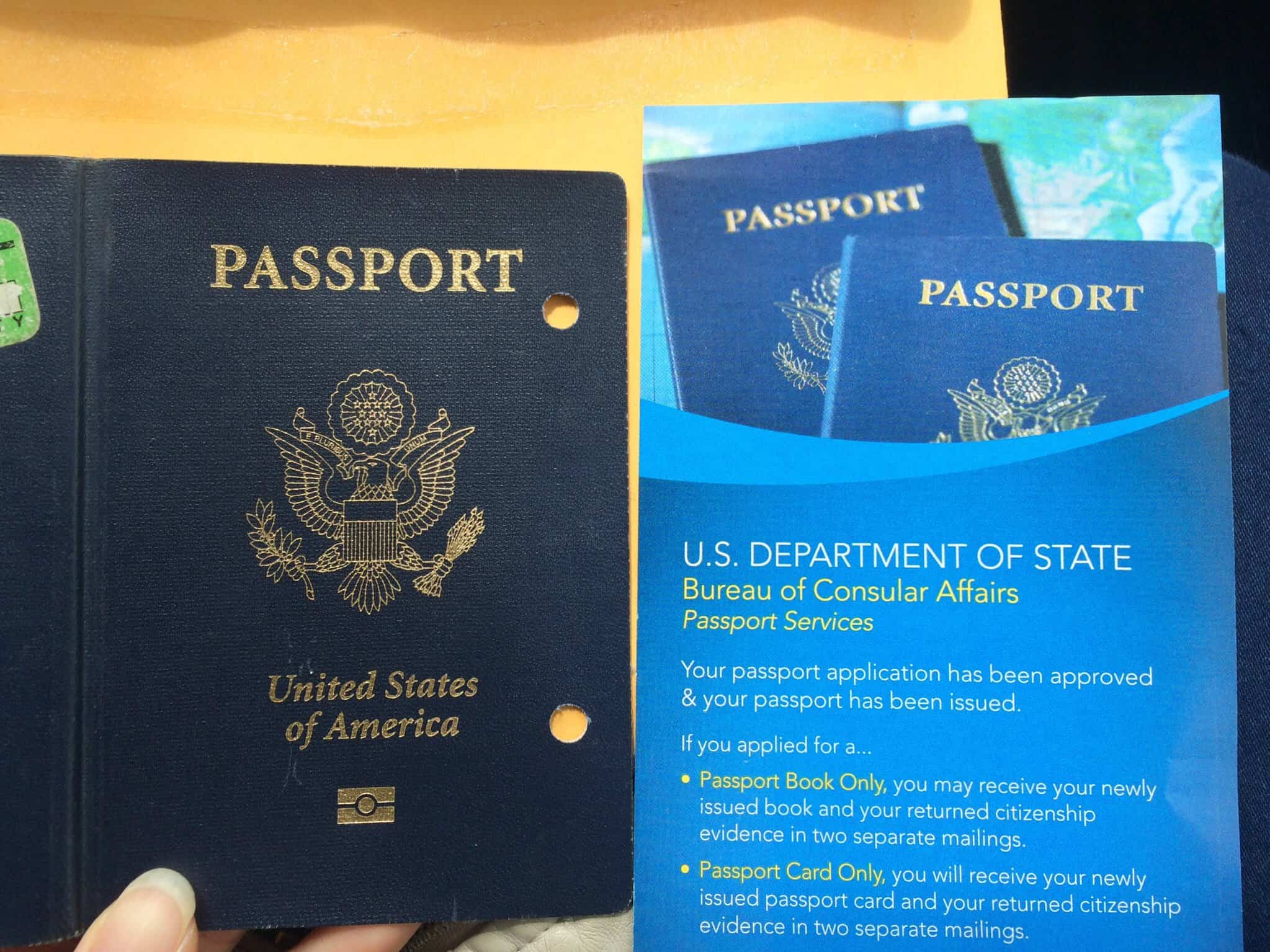 Us Passport Renewal Expedited  My Old Passport Returned To Me In The Mail