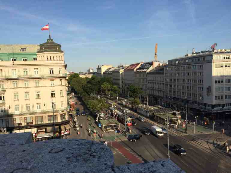 Eastern Europe Itinerary - View of Vienna from the top of the State Opera House