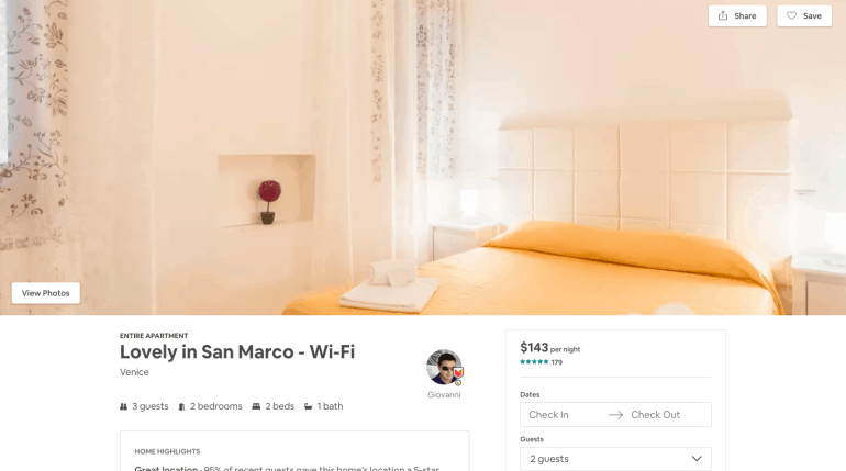 24 hours in venice - airbnb option 3