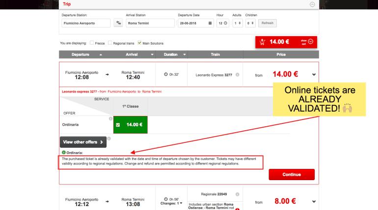 Buy leonardo express tickets online - step 4