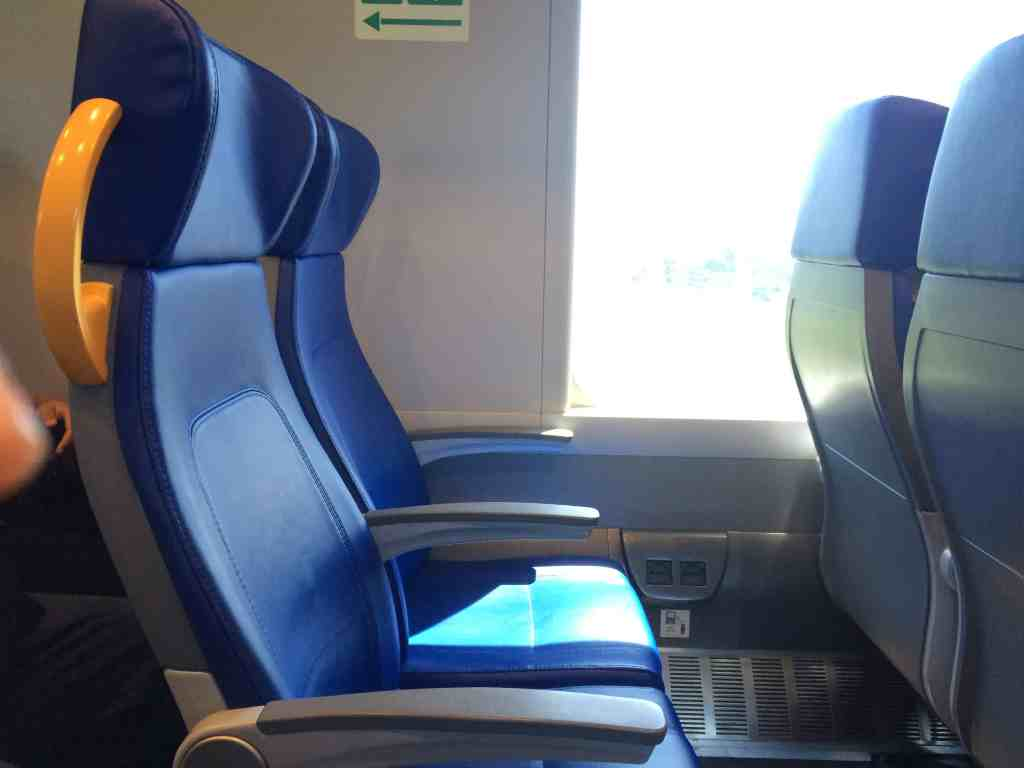 Leonardo Express Airport Train - Seats inside the train