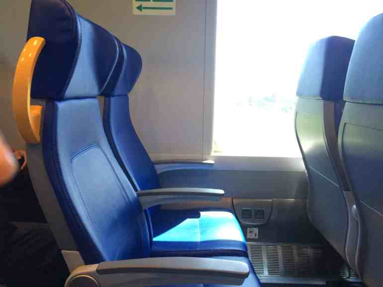 Leonardo Express Airport Train - Seats inside the train