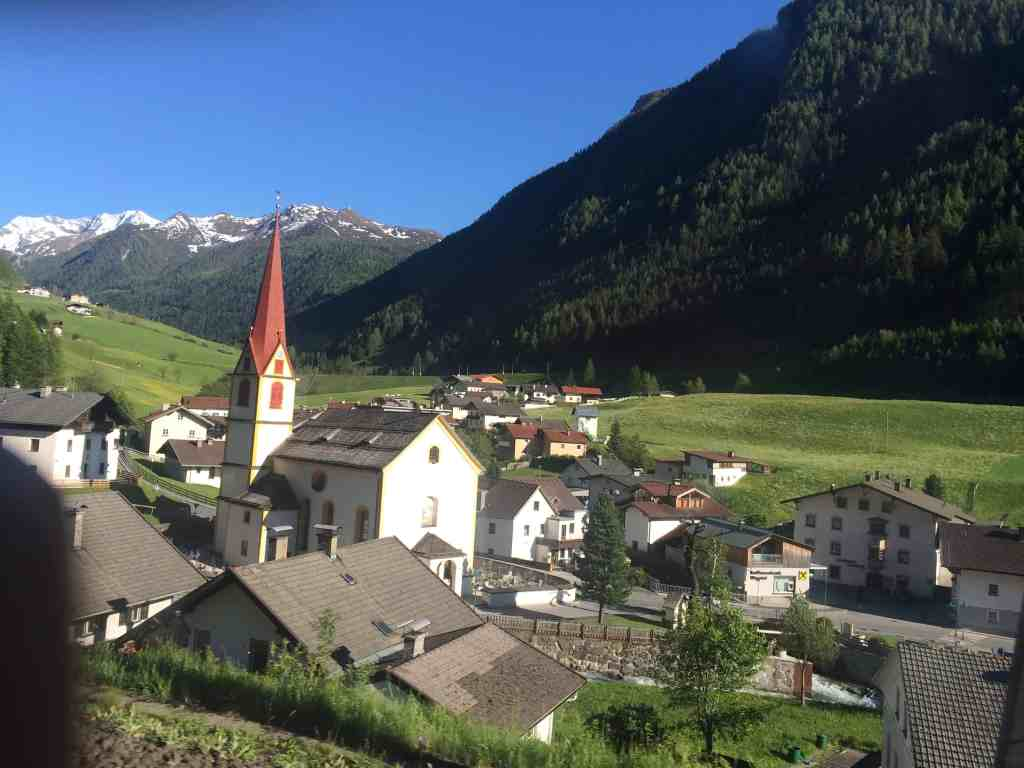 Train from Venice to Salzburg Brenner Pass view from the window 1