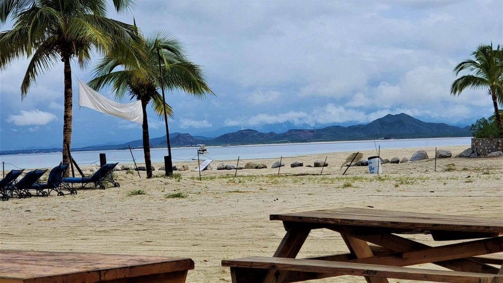 View from Lazy Daze Beach Bar in Los Barriles.