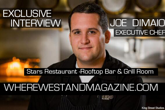 Exclusive Interview with Chef Joe DiMaio of Stars Restaurant -Rooftop Bar & Grill Room