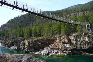 Kootenai swinging bridge