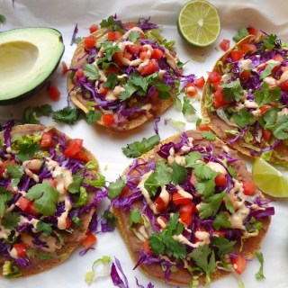 Quick 7 Layer Vegan Tostadas