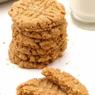 Vegan Peanut Butter Cookies – 20 min no-chill