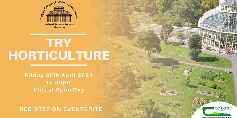 Try Horticulture April Virtual Open Day