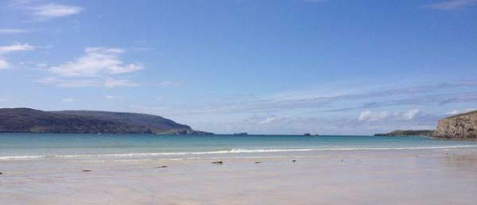 beach on west coast Scotland at Durness