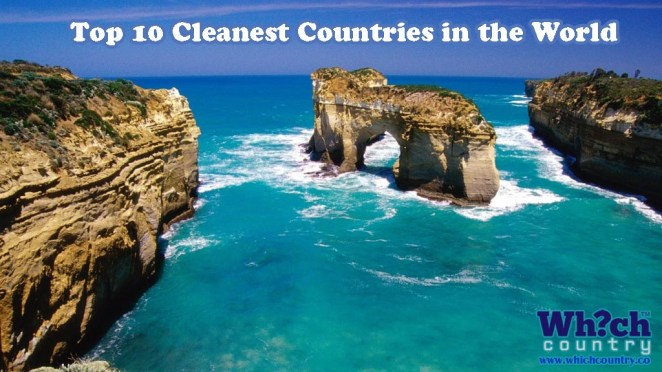 list of top ten cleanest countries in the world