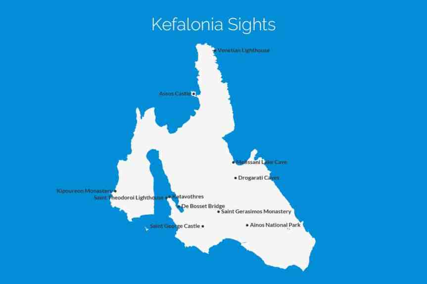Kefalonia Sights Map