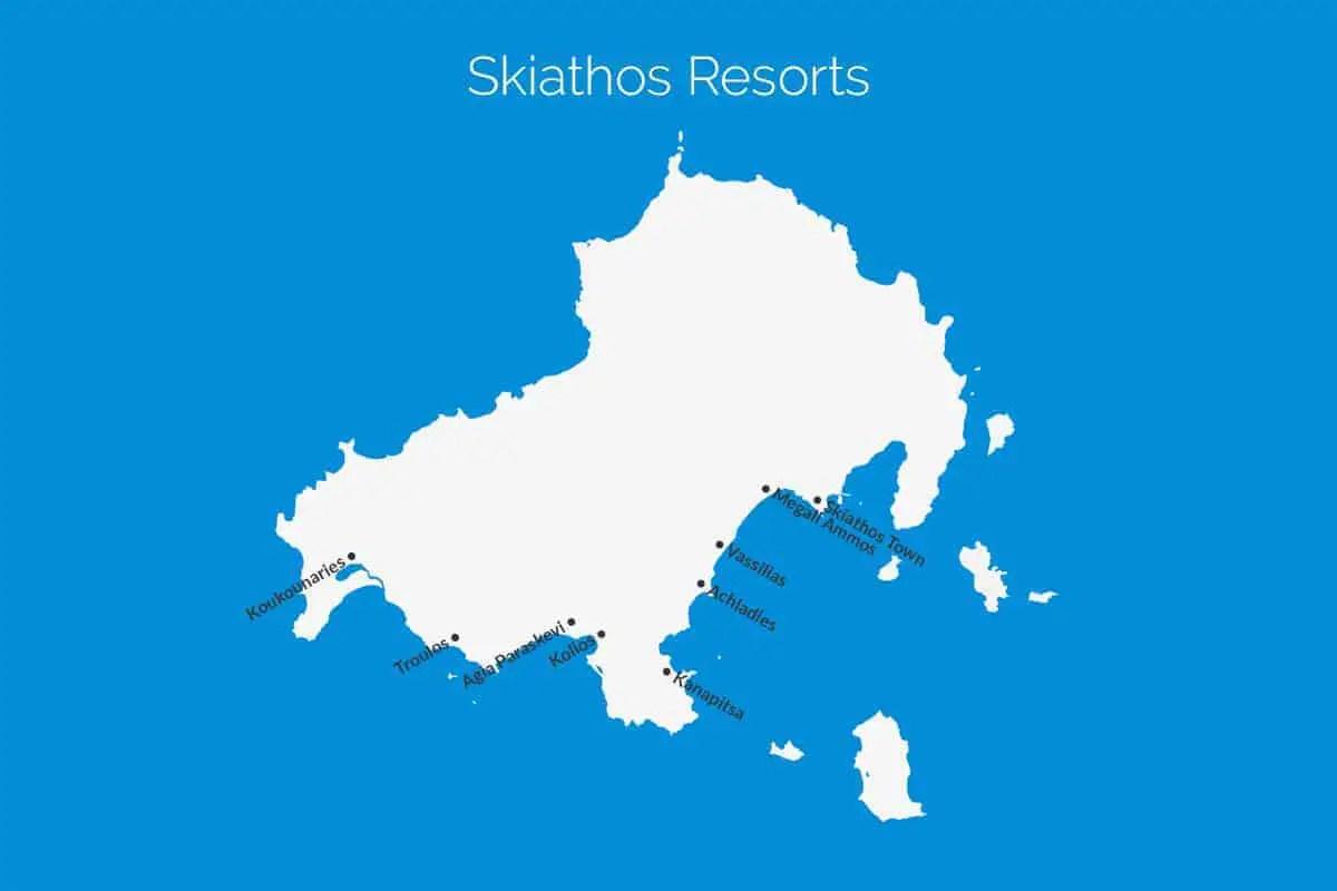 Skiathos Resort Map