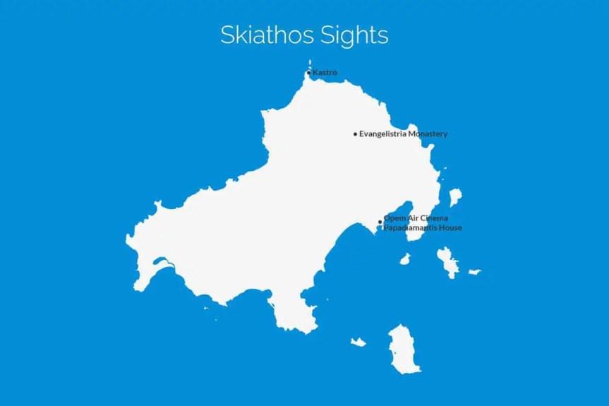 Skiathos Sights Map
