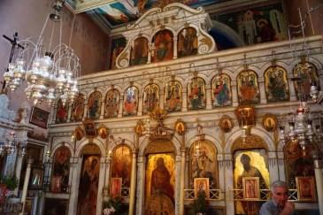 Inside Paleokastritsa Monastery