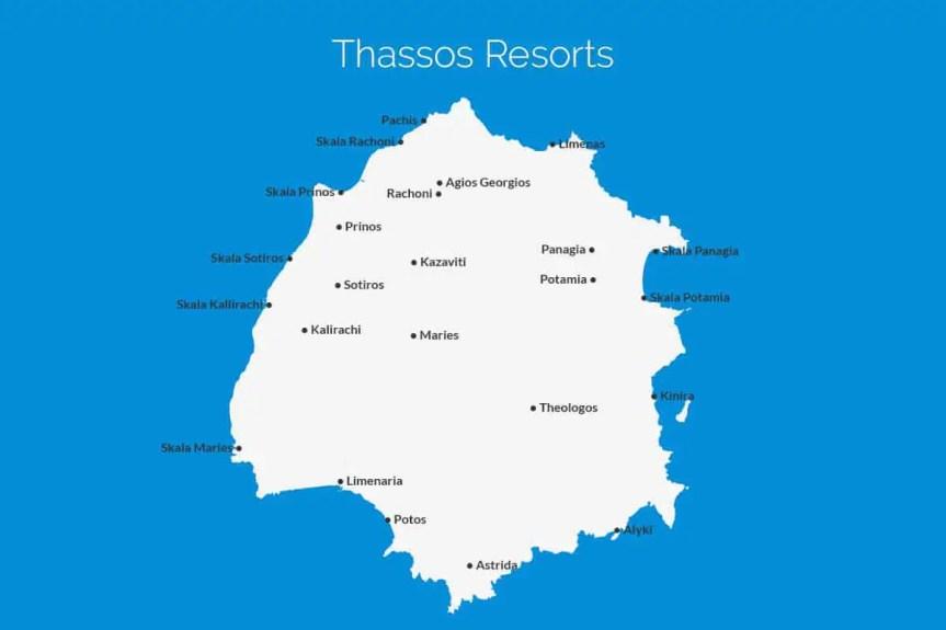 Thassos Resort Map