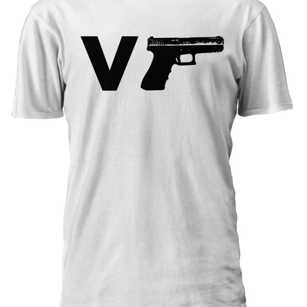 V-Gun-Handgun-White-Shirt