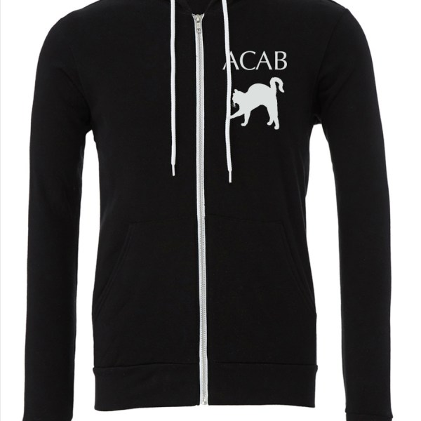 ACAB-Cat-Upper-Black-Zipper-Hoodie-Front