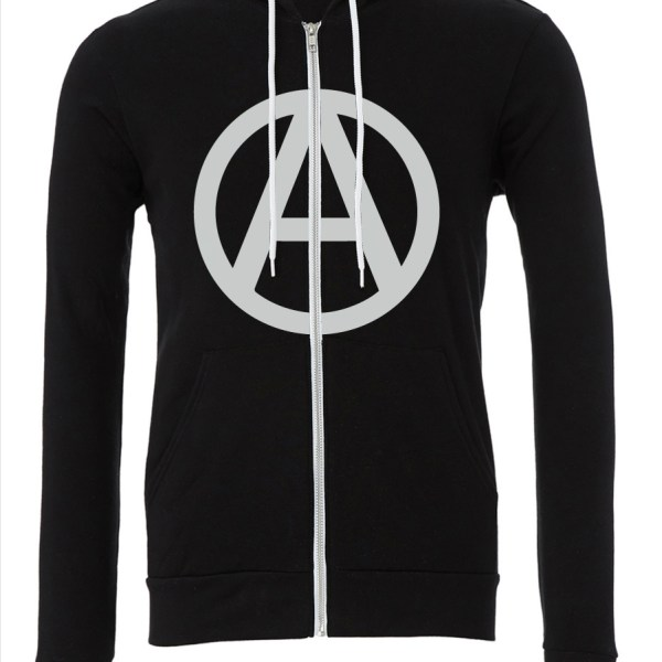 Circle-A-Black-Zipper-Hoodie-FRONT