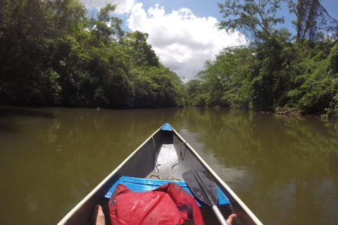 Canoeing in Belize