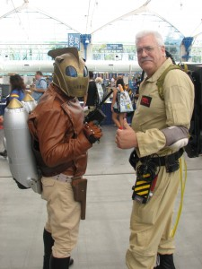 Quite impressive Rocketeer and Ghostbuster costumes.