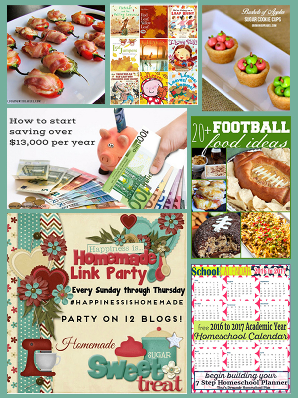 Happiness is Homemade Link Party Featured Collage