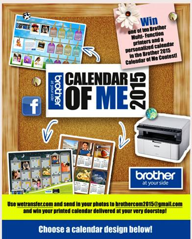 Printers and calendars from Brother 2015 contest