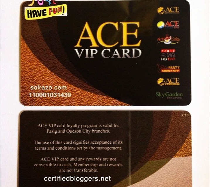 Ace VIP Card pre-loads almost 10K perks at P1,385