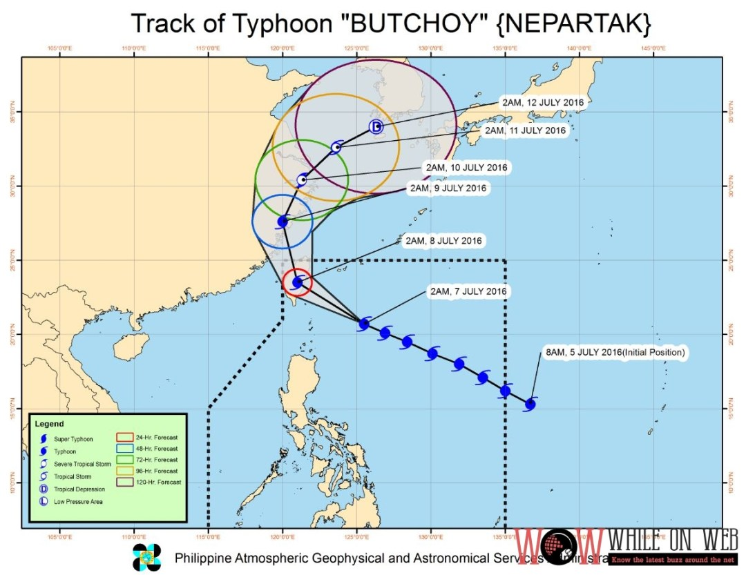 "SEVERE WEATHER BULLETIN #6 FOR: TYPHOON ""BUTCHOY"" (NEPARTAK) TROPICAL CYCLONE: WARNING"
