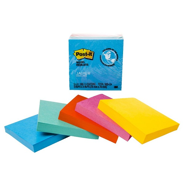 Post it Notes ,76 x 76mm ,Jaipur ,5 Pack