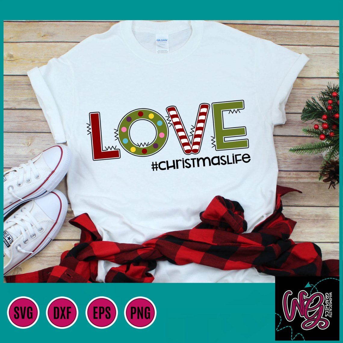 Download Love Christmas Life SVG, DXF, PNG, EPS